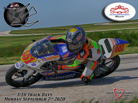 316 Track Days - Motorsport Ranch - Monday September 7th 2020